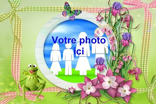 Cadre photo azyme Grenouille