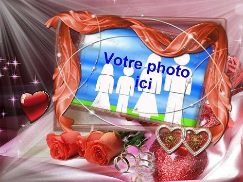 Cadre photo azyme amour alliance