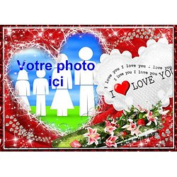 Cadre photo azyme amour coeur