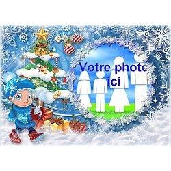 Cadre photo azyme Noël Lutin