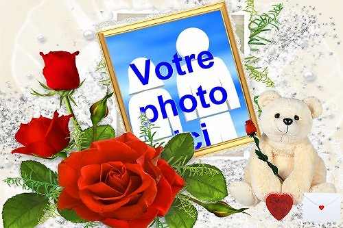 Cadre photo azyme amour ourson