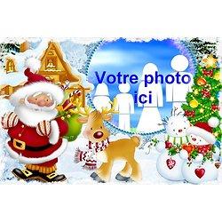 Cadre photo azyme Père Noël