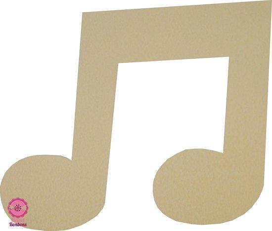 Support à bonbons Note de musique