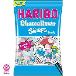 Chamallows schtroumpfs Family Haribo 175g
