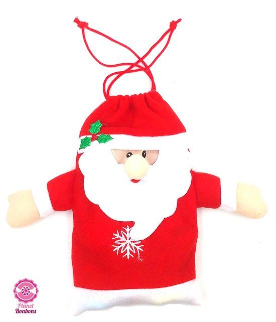 Pochon Père Noël garni 125g - 8 pièces