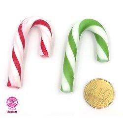 Mini candy cane vert et rouge - lot de 10