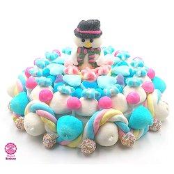 Gâteau de bonbons Bonhomme de neige 320mm
