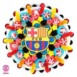 Gâteau de bonbons foot FC Barcelone 320mm