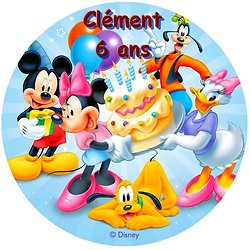 Disque azyme Mickey et ses amis