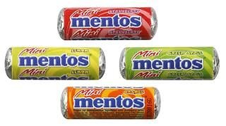 Mini Mentos fruits- lot de 10