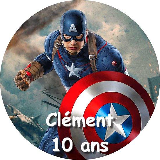 Disque azyme Captain America