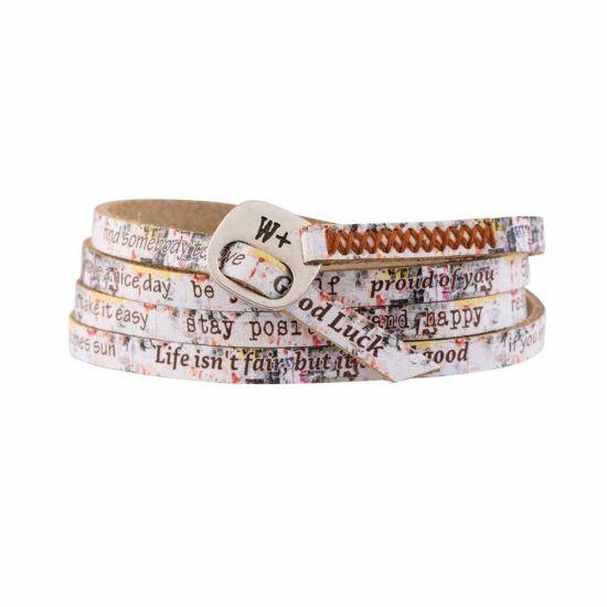 We Positive Bracelet Print Graffiti