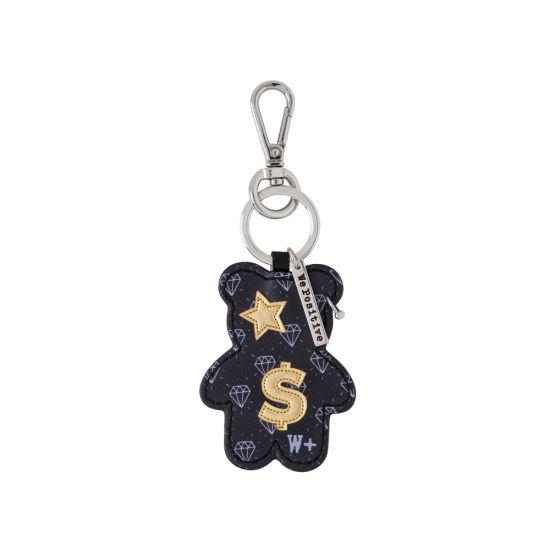 Porte clés We Positive Teddy Rock Black