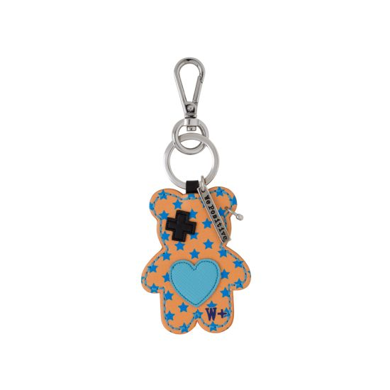 Porte clés We Positive Teddy Rock Orange