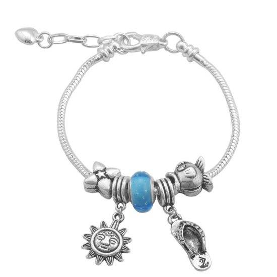 Bracelet Charm Exotique (taille réglable 19 à 23cm)