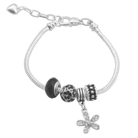 Bracelet Pureté noire (taille réglable 19 à 23cm)