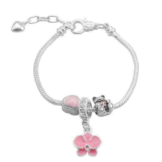 Bracelet Charm Tendresse (taille réglable 19 à 23cm)