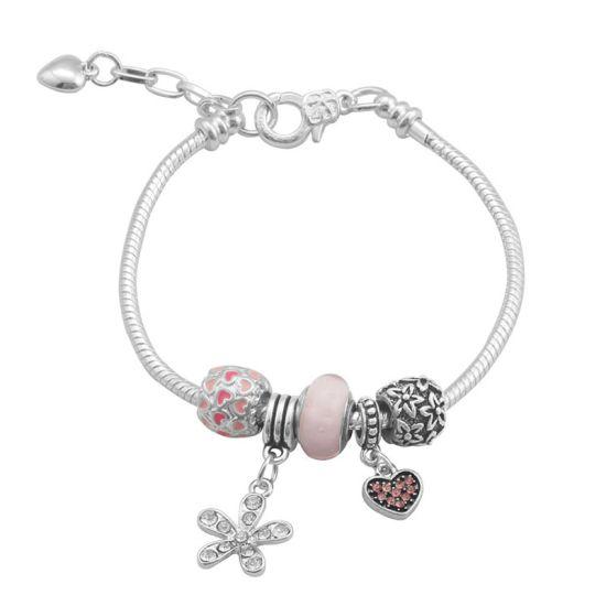 Bracelet Charm Romance (taille réglable 19 à 23cm)