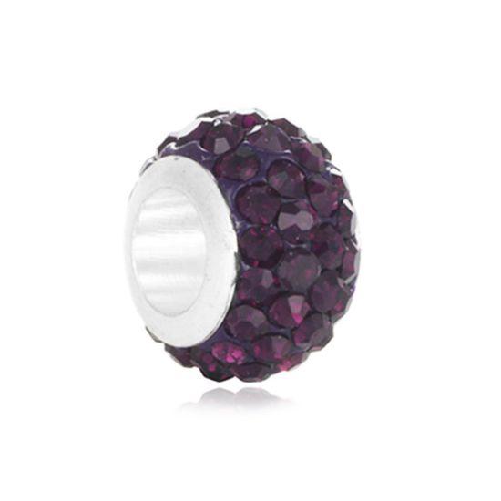 Charm Pavé violet