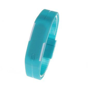 Montre Bracelet Digital Ultra Slim Silicone Bleu
