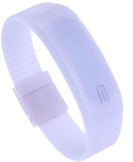 Montre Bracelet Digital Ultra Slim Silicone Blanche