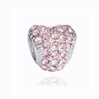Charm Coeur Strass rose