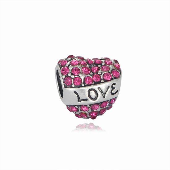 Charm Coeur Love rose