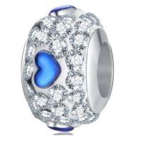 Perle Cristal Coeur bleu