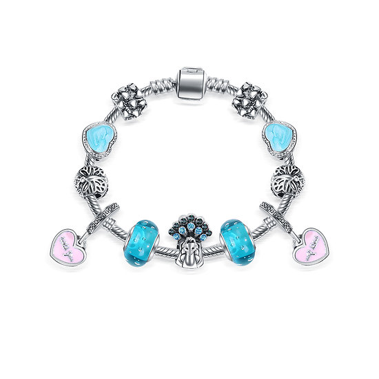 Bracelet Charm Sydney Turquoise 17 cm