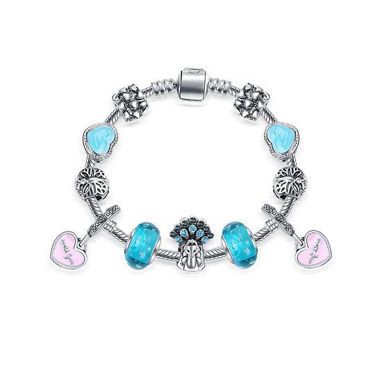 Bracelet Charm Sydney Turquoise 18 cm