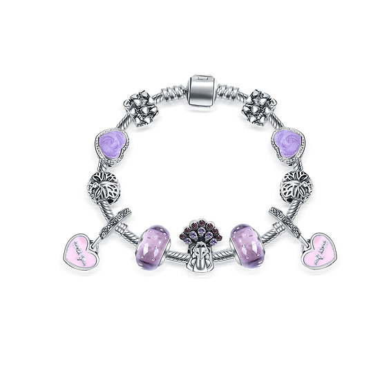 Bracelet Charm Sydney Violet 16 cm