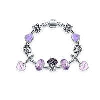 Bracelet Charm Sydney Violet 17 cm