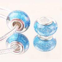 Perle à Paillettes Bleu