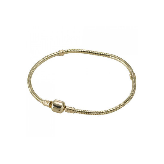 Bracelet charm Doré 19 cm