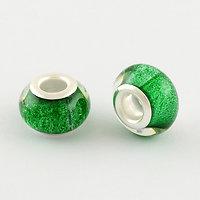 Green glitter bead