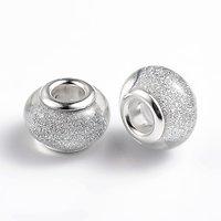 Plum glitter bead