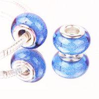 Blue glitter bead