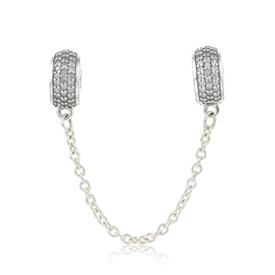 Clip Safety Chain, Clear CZ