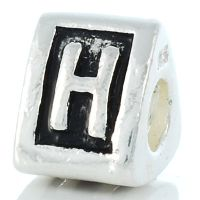 Letter H charm bead