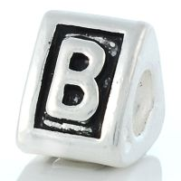 Letter B charm bead
