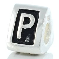 Letter P charm bead