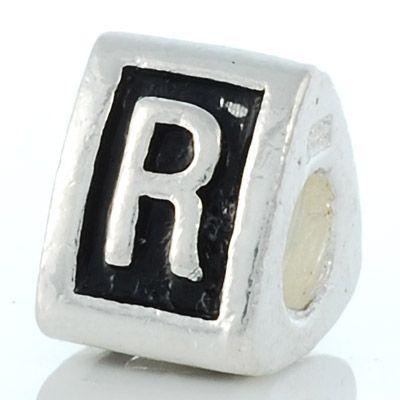 Letter R charm bead