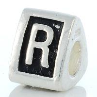Letter R charm bead