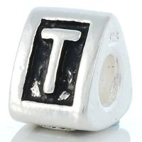 Letter T charm bead