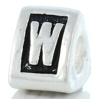 Letter W charm bead
