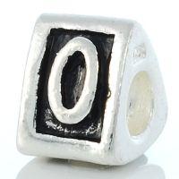 Letter O charm bead