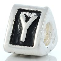 Letter Y charm bead