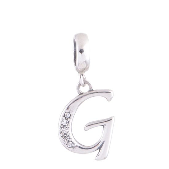 charm pandora lettre g