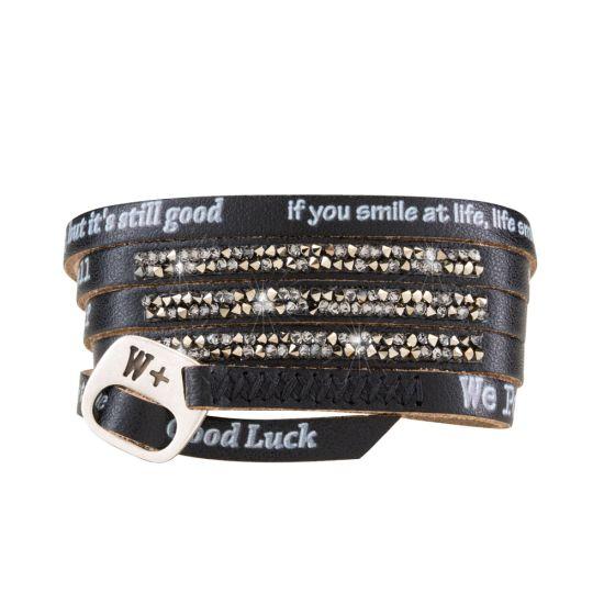 We Positive Bracelet Moon Light Black