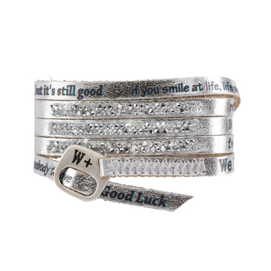 We Positive Bracelet Moon Light Silver